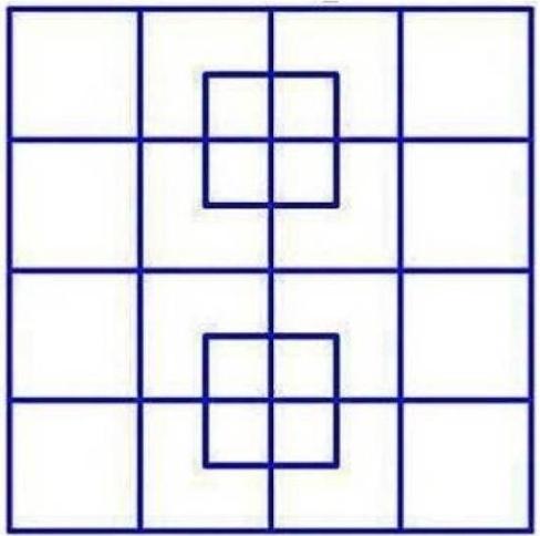 muestra los cuadrados a ser contados